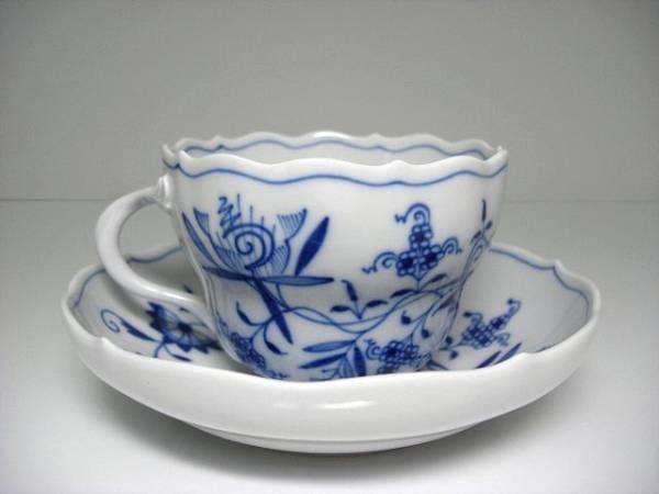 Meissen ブルーオニオン ティーカップ&ソーサー