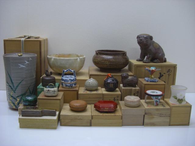 茶道具1式 香炉 香合 水差し 建水