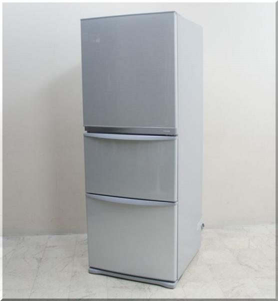 東芝 340L/3ドア ノンフロン冷凍冷蔵庫 GR-34ZY(SS)
